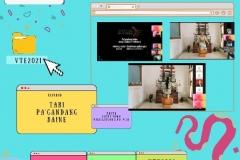 Pemutaran tari hiburan dalam sela sela webinar Virtual Travel Edition The Paradise Of Culture 'Tana Toraja' pada Sabtu 09 Januari 2021