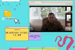 Dekan FEB Dr. Suryono Efendi, S.E.,M.M. saat memberikan sambutan dalam acara webinar Virtual Travel Edition The Paradise Of Culture 'Tana Toraja' pada Sabtu 09 Januari 2021