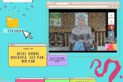 Ketua Program Studi Pariwisata Rizki Nurul Nugraha, S.S.T.Par., M.Par. saat memberikan sambutan dalam acara webinar Virtual Travel Edition The Paradise Of Culture 'Tana Toraja' pada Sabtu 09 Januari 2021