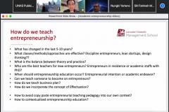 Materi oleh Dosen Senior atau Associate Professor Lancaster University Management School Dr. Danny Soetanto pada Lecture Series : Academic Entrepreneurship, diselenggarakan oleh FEB UNAS pada hari Kamis, 9 September 2021