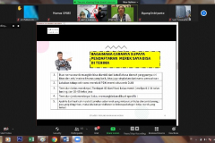 Penyampaian materi oleh Praktisi HKI/ Konsultan HKI Terdaftar/ Advokat/ Dosen FH UNAS Triayu Ratna Dewi, S.H., M.H.