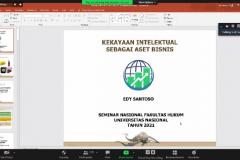 Penyampaian materi oleh Dosen BPSDM Kementrian Hukum dan HAM RI Dr. H. Edy Santoso ST, S.H., MITM., M.H.