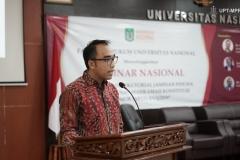 Sambutan ketua pelaksana seminar nasional fakultas hukum