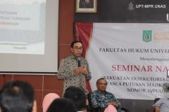 Narasumber seminar nasional Fakultas Hukum