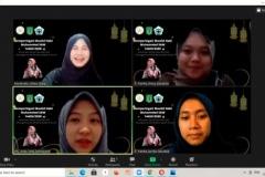 Para peserta yang hadir dalam peringatan Maulid Nabi Muhammad SAW 1442 H pada Minggu (15/11) melalui zoom cloud meeting