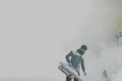 Kondisi saat pemfoggingan berlangsung di area luar UNAS