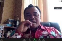 Dosen Prodi Ilmu Komunikasi Fakultas Ilmu Sosial dan Ilmu Politik (FISIP) Universitas Nasional (Unas) Th. Bambang Pamungkas, M.I.Kom sedang memberikan paparan materinya.  (2)