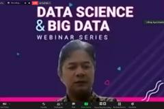 "Sambutan ketua pelaksana Webinar Series ""Data Science & Big Data"" Agus Iskandar, S.Kom., M.Kom"