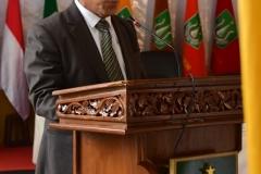 Rektor Universitas Nasional, Dr. El Amry Bermawi Putera, M.A saat memberikan sambutan