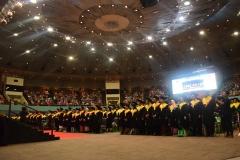 Para Wisudawan & Wisudawati Saat Menyanyikan Lagu Indonesia Raya