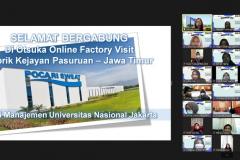 """Online Factory Visit dalam acara HIMAJEM Visit (Studi Banding dan Company Visit) dengan tema """"Build a Relation and Sharing Ideas about Management with HIMAJEM UNAS 2021"""" pada tanggal 14-15 September 2021"""