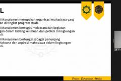 "Sharing section oleh HIMAJEM UINSA Surabaya dalam acara HIMAJEM Visit (Studi Banding dan Company Visit) dengan tema ""Build a Relation and Sharing Ideas about Management with HIMAJEM UNAS 2021"" pada tanggal 14-15 September 2021"