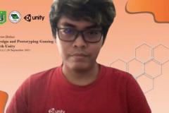 Anjar Aditya Pratama sebagai Narasumber dalam kegiatan Himpunan Mahasiswa Sistem Informasi, Forum Diskusi : Design and Prototyping Gaming Application with Unity pada bulan September 2021