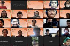 Foto bersama dalam kegiatan Himpunan Mahasiswa Sistem Informasi, Forum Diskusi : Design and Prototyping Gaming Application with Unity pada bulan September 2021