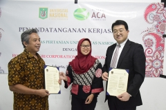 Foto Bersama  Dosen, Mahasiswa, dan Para Delegasi Hokkaido Aido Agri Corporation Association (ACA), Jepang