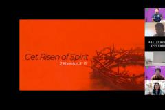 Materi oleh Sony Mangun dalam Ibadah dan Perayaan Paskah 2021 yang diselenggarakan oleh Persekutuan Oikoumene UNAS pada hari Sabtu, 12 Juni 2021