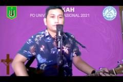 Pemateri Sony Mangun dalam Ibadah dan Perayaan Paskah 2021 yang diselenggarakan oleh Persekutuan Oikoumene UNAS pada hari Sabtu, 12 Juni 2021