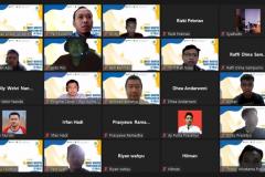 Foto bersama kegiatan IT Talks : Most Wanted Profession in IT Field kerjasama antara ICT Research Center dengan Enigma Camp pada Kamis, 7 Oktober 2021
