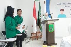 Ketua Program Studi Pendidikan Profesi Ners (Ns Andi Mayasari Usman, S.Kep., M.Kep.) Sedang memberikan sambutan