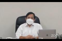 """Ketua PPI-UNAS Dr. Fachruddin Mangunjaya, M.Si., pada sambutan Kajian PPI-Unas dengan tema """"Dialog Kebangsaan, Meneguhkan Kembali Nilai-nilai Luhur Pemimpin Bangsa Indonesia"""" pada hari Jumat, 27 Agustus 2021"""