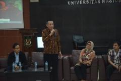 Sambutan dari Wakil Rektor Bidang Kemahasiswaan UNAS Dr. Drs. Zainul Djumadin, M.Si