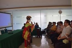 Penampilan Tari Tradisional dalam acara Dissemination on Study Aboard Program 2019