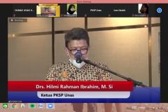 Ketua-PKSP-UNAS-Drs.-Hilmi-Rahman-Ibrahim-M.Si-Dalam-Memberikan-Sambutan