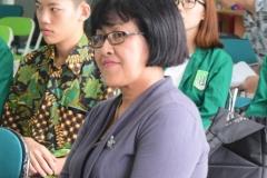 Kepala Divisi Kerjasama Luar Negeri Kantor Kerjasama Internasional Universitas Nasional (Dra. M.A Inez Saptenno)