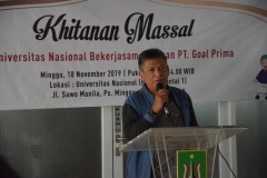 Sambutan Perwakilan dari UNAS Saptomo Setiawan, SP, MM
