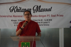 Sambutan dari Direktur Utama PT. Goal Prima Ir.Firdaus Trimunara Wiratmadja