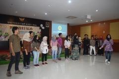 perkenalan stuktur dan program kerja dari himpunan mahasiswa agroteknologi pada acara dies natalis himagro