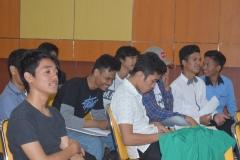 mahasiswa dari program studi agroteknologi pada acara dies natalis himagro