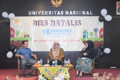 talkshow oleh alumni dari fakultas pertanian UNAS dalam acara dies natalis himagro