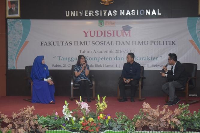 Talkshow para alumni FISIP dalam sesi 2 acara Yudisium FISIP