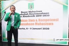 Sambutan Dr. Drs. Zainul Djumadin, M.Si (Wakil Rektor Bidang Kemahasiswaan) di acara Bazar Kewirausahaan 2019