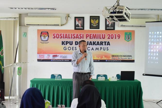 KPU DKI JAKARTA SOSIALISASIKAN PEMILU DIKAMPUS UNAS (2)
