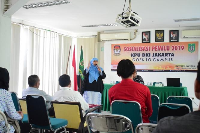 KPU DKI JAKARTA SOSIALISASIKAN PEMILU DIKAMPUS UNAS (4)