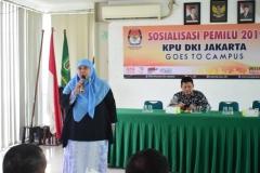 KPU DKI JAKARTA SOSIALISASIKAN PEMILU DIKAMPUS UNAS (3)
