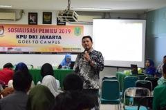 KPU DKI JAKARTA SOSIALISASIKAN PEMILU DIKAMPUS UNAS (6)