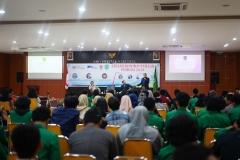Kuliah Kewirausahaan Pemuda 2019 di Aula Blok 1 lantai 4 UNAS, Senin (24/6)