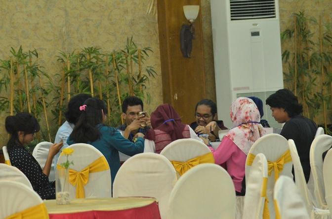 Para mahasiswa peserta seminar