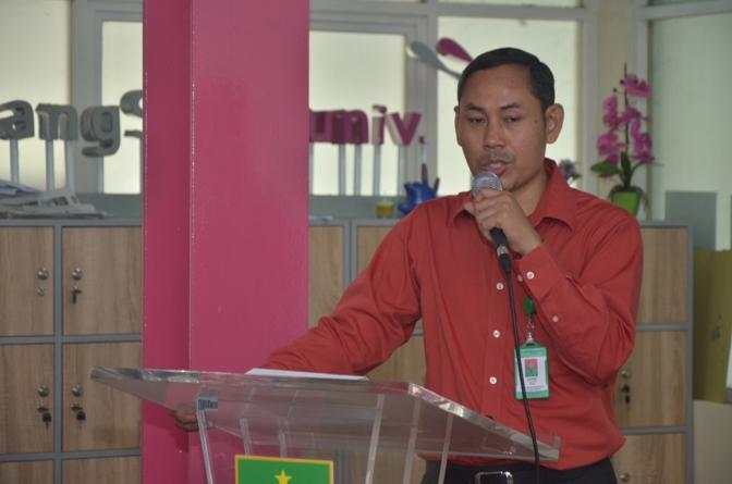 sambutan dekan FTS, Bapak Basori dalam acara kuliah umum