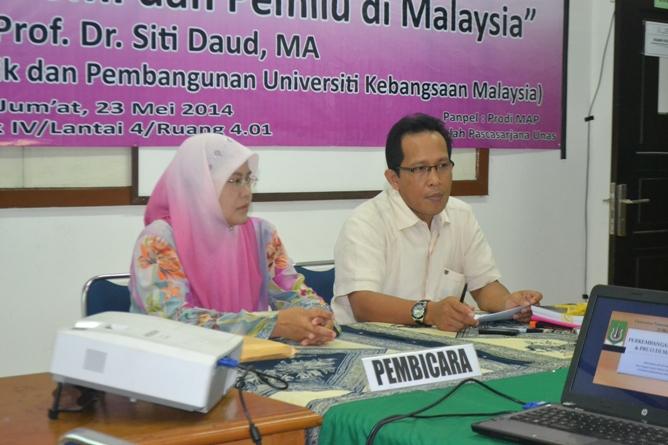 Para pembicara dalam kuliah umum