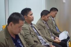 mahasiswa sedang mendengarkan materi saat kuliah umum progdi administrasi negara