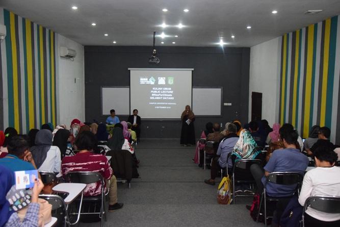 Kuliah Umum Public Lecture (Riset For Climate) di UNAS (3)