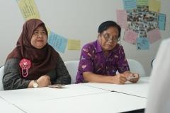 (Kiri-kanan) Direktur Akademi Bahasa Asing Nasional Dra. Rura Adinda, M.A. dan Direktur Kantor Kerjasama Internasional J. Sugarjito, Ph.D