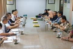 Visiting delegations of Guangxi University for Nationalities and Universitas Nasional to South Jakarta court, Lawyer's Association and Prosecutor Office, pada Rabu (28/8)