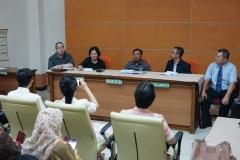 Kunjungan delegasi Guangxi University for Nationalities, China  dan Universitas Nasional ke pengadilan negeri jakarta selatan, pada selasa (27/8)