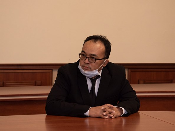 Ketua Program Studi Magister Ilmu Politik Dr. M. Alfan Alfian Mahyudin, M.Si. saat proses dialog dalam lawatan akademis ke Ukraina pada 15-20 Maret 2021