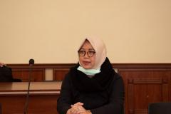 Kepala Badan Penjaminan Mutu UNAS Dr. Erna Ermawati Chotim, M.Si.  saat proses dialog dalam lawatan akademis ke Ukraina pada 15-20 Maret 2021